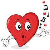 Assobio vermelho bonito do caráter do coração Imagem de Stock