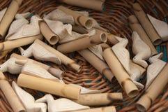 Assobios de madeira Imagem de Stock Royalty Free