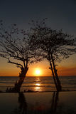 Associação da infinidade do por do sol em Sengigi Lombok Fotografia de Stock Royalty Free
