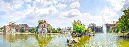 Associação da rocha do jardim ornamental da beleza do panorama Imagens de Stock