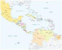 A associação de estados das caraíbas traça ilustração royalty free