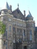 Associação do ` das estudantes universitário de Edimburgo Escócia Edimburgo do salão de Hall Study Mcewan da fileira de Teviot foto de stock