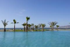 Associação do recurso com opinião da palmeira e do mar Foto de Stock Royalty Free