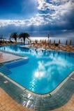 Associação e mar Mediterrâneo em um dia nebuloso Foto de Stock