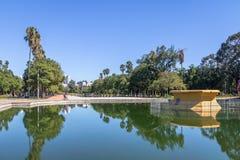 Associação refletindo do parque de Farroupilha ou do parque de Redencao em Porto Alegre, Rio Grande do Sul, Brasil foto de stock royalty free