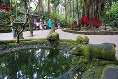 Associação velha no macaco sagrado Forest Sanctuary, Ubud, Bali, Indonésia fotografia de stock
