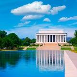 Associação Washington da reflexão de Abraham Lincoln Memorial fotos de stock royalty free