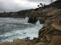 Associações da maré de Califórnia La Jolla Fotografia de Stock Royalty Free
