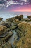 Associações da maré em Marineland, Florida no nascer do sol Imagens de Stock Royalty Free