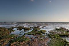 Associações da rocha na praia de Exmouth Fotos de Stock