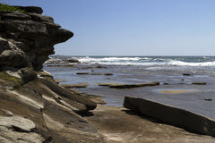 Associações da rocha no promontório, Caloundra Fotos de Stock Royalty Free