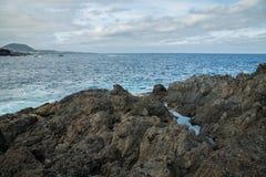 Associações de água naturais em Garachico Imagem de Stock Royalty Free