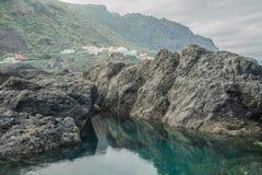 Associações de água naturais em Garachico Fotografia de Stock
