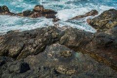 Associações de água naturais em Garachico Foto de Stock