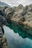 Associações de água naturais em Garachico Foto de Stock Royalty Free