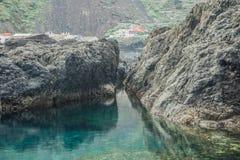 Associações de água naturais em Garachico Fotografia de Stock Royalty Free