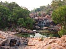 Associações de Gunlom (angra da cachoeira) e cachoeiras, parque nacional de Kakadu, Austrália Fotografia de Stock