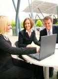 associate laptop showing Στοκ Εικόνες