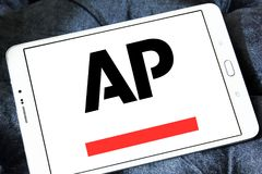 Associated Press , AP , logo. Logo of Associated Press , AP , on samsung tablet. The Associated Press AP is a U.S. based not for profit news agency headquartered Royalty Free Stock Photo