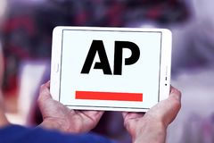 Associated Press , AP , logo. Logo of Associated Press , AP , on samsung tablet. The Associated Press AP is a U.S. based not for profit news agency headquartered Royalty Free Stock Image