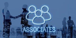 Associates Team Leadership Partnership Concept. Associates Team Teamwork Leadership Partnership Royalty Free Stock Photography