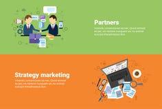 Association de Partners Shake Hand d'homme d'affaires, bannière de Web d'affaires de plan de stratégie marketing de Digital Photo stock