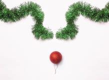Association de visage de renne faite de décorations de Noël image libre de droits