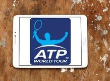Association des professionnels de tennis, logo de triphosphate d'adénosine Photographie stock libre de droits
