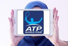 Association des professionnels de tennis, logo de triphosphate d'adénosine Photos stock