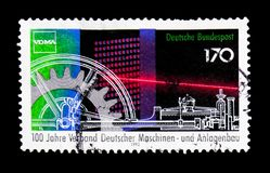 The Association of German machine and plant construction, serie,. MOSCOW, RUSSIA - MARCH 18, 2018: A stamp printed in Germany shows The Association of German Stock Photo