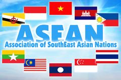 Association of Southeast Asian Nations, ASEAN. Economic organization of countries of Southeast Asian region. Association of Southeast Asian Nations, ASEAN royalty free stock image