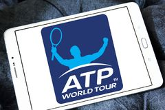 Association of Tennis Professionals, ATP logo. Logo of Association of Tennis Professionals, ATP on samsung tablet Stock Photo