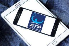Association of Tennis Professionals, ATP logo. Logo of Association of Tennis Professionals, ATP on samsung mobile Royalty Free Stock Photos