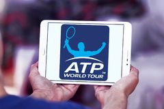 Association of Tennis Professionals, ATP logo. Logo of Association of Tennis Professionals, ATP on samsung tablet Royalty Free Stock Image
