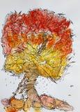 Associative image of the autumn tree Stock Photography