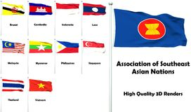 Associazione delle nazioni asiatiche sudorientali illustrazione vettoriale