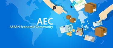 Associazione di comunità economica di ASEAN di CEA delle nazioni asiatiche sudorientali illustrazione di stock