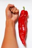 Assomiglia al più grande peperoncino rosso del mondo Immagini Stock