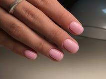 Assomigliare rosa dei chiodi alle caramelle gommosa e molle Fotografie Stock