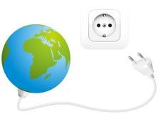 Assorbimento di corrente di potenza mondiale Immagini Stock