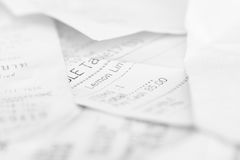 Assort billing receipt Royalty Free Stock Images