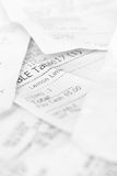 Assort billing receipt Stock Photography