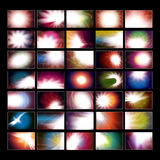 Assorted Abstract Backgrounds Stock Image
