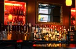Assorted alcoholic drinks Stock Photos