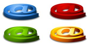 Assorted Ampersand At Symbols Stock Photos