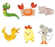 Assorted animals. An illustration of assorted animals Royalty Free Stock Image