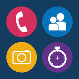 Assorted app buttons icon image Royalty Free Stock Photo