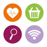 Assorted app buttons icon image Royalty Free Stock Image