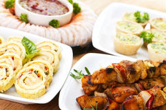 Assorted appetizers Stock Photos