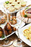 Assorted appetizers Stock Photography
